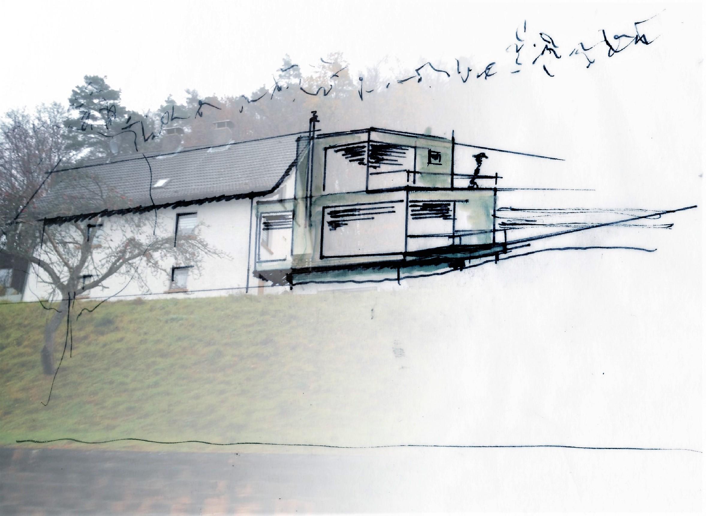 1Entwurf-Erweiterungsbau Ansicht Straße1